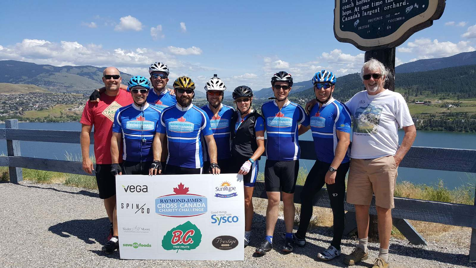 The Big Bike Ride BC team - over $27,000 raised for cancer research! Cross Canada Charity Challenge