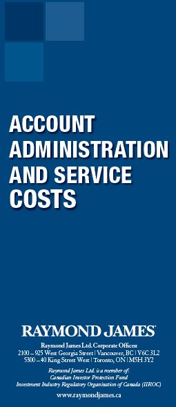 Raymond James Ltd. - Account Administration and Service Costs